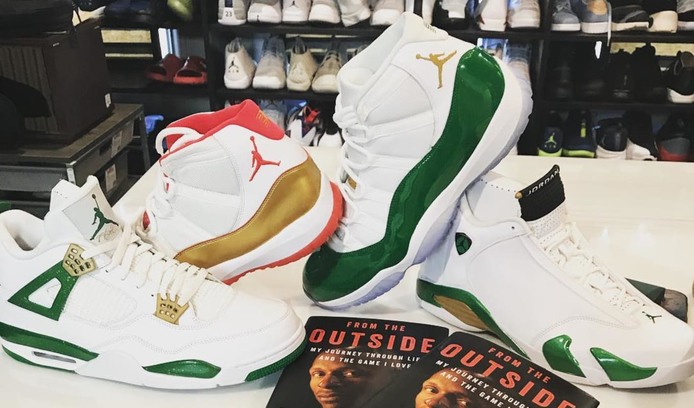 brand new 0e040 3e22b Ray Allen Shows Off Never-Before-Seen Air Jordan PEs   Sole Collector