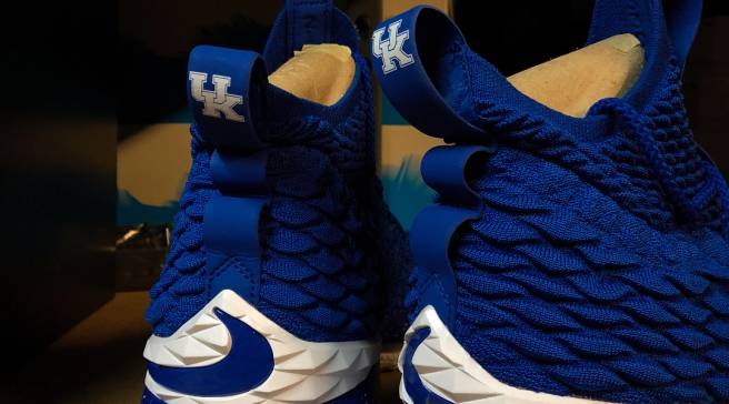 d43534024a7959 Up Close with the Kentucky Wildcats  Exclusive Nike LeBron 15