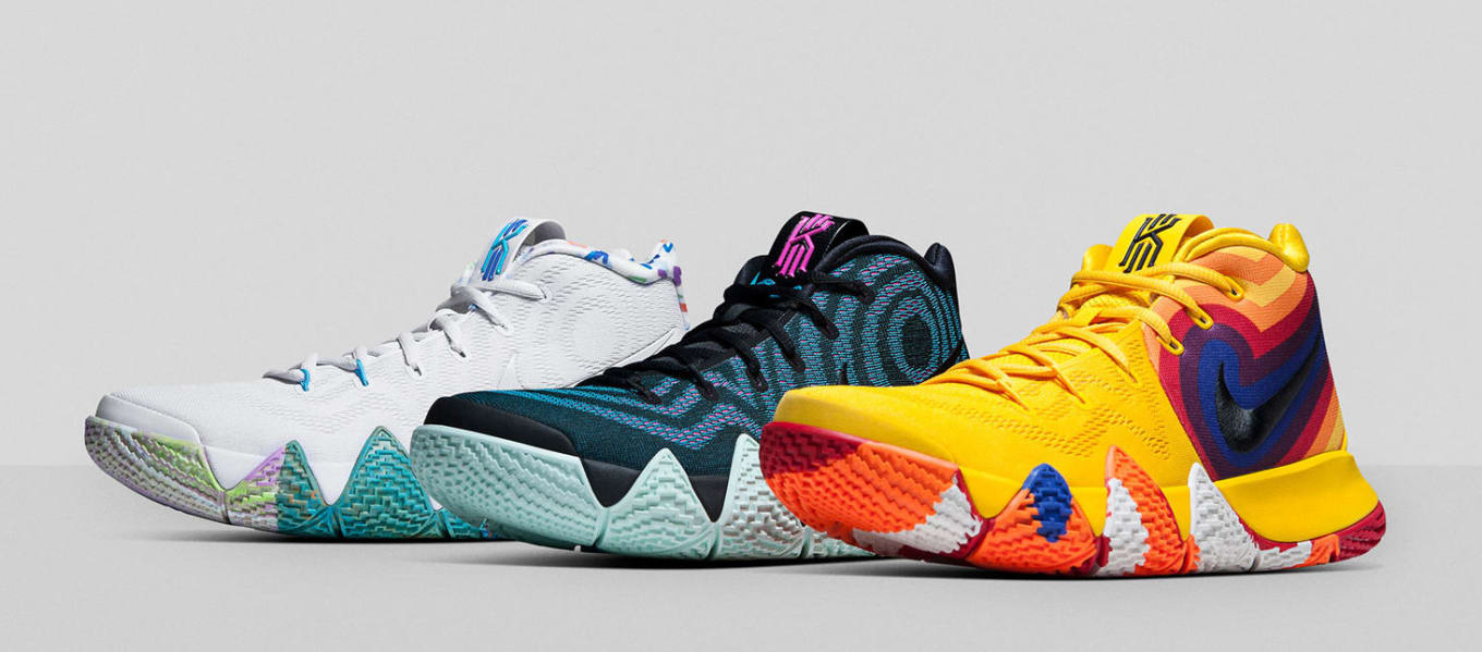 watch 90d46 715d0 Nike Kyrie 4  Decades Pack  Release Date   Sole Collector