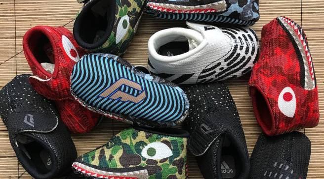 6ccf7d1dae5d2 Dame Lillard s Newborn Son Already Has Bape x Adidas Sneakers