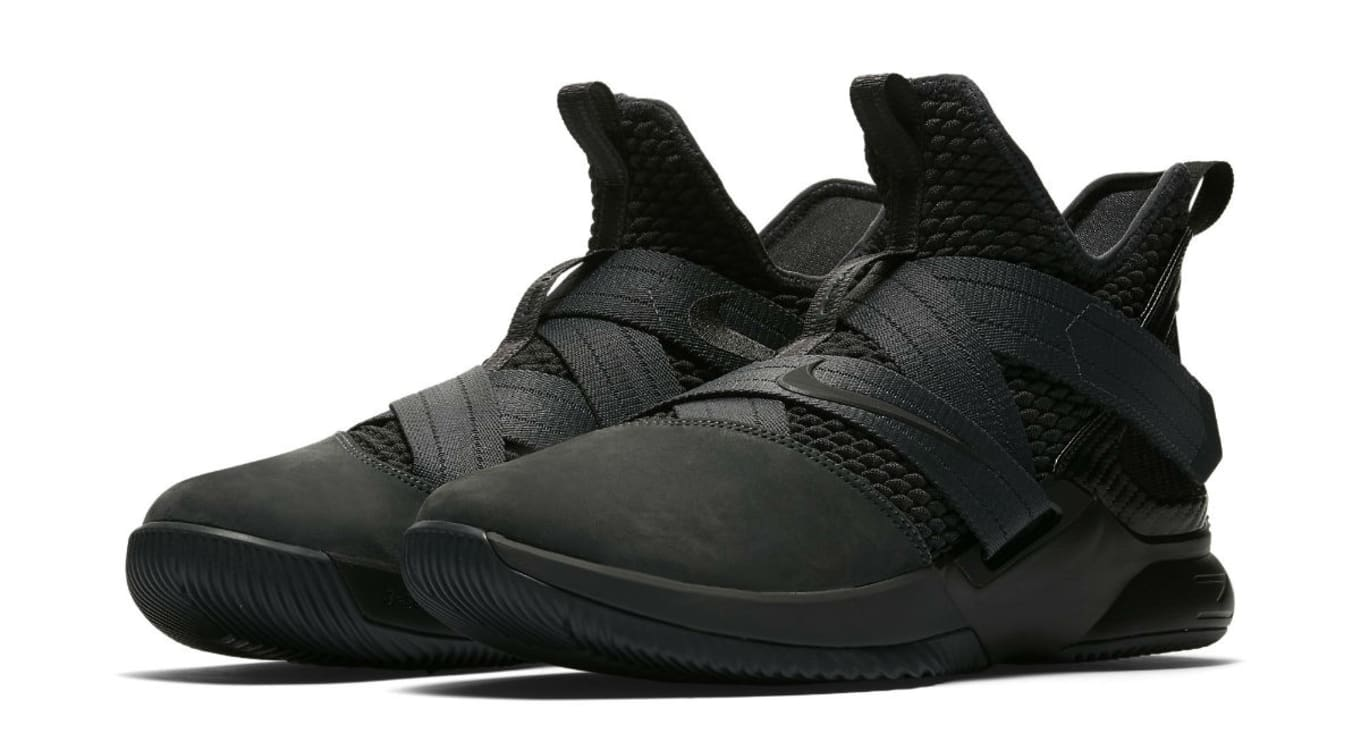 1f6cb14aa20 Nike LeBron Soldier 12 XII Zero Dark Thirty Triple Black Release ...