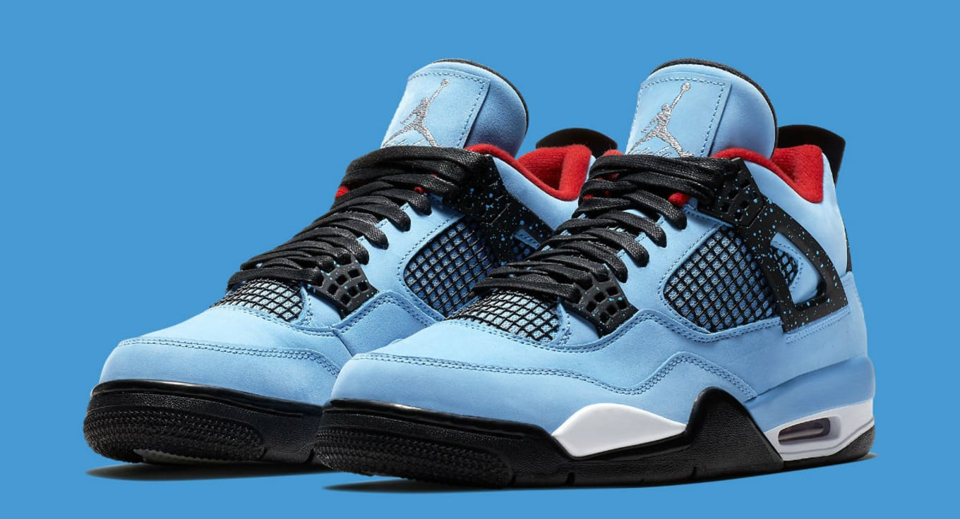 brand new 26748 ec625 Travis Scott's Jordan 4s Show up at Nike Outlet | Sole Collector