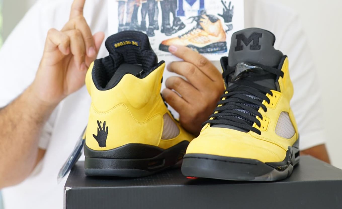 check out f10b2 8a6f0 DJ Khaled Unveils Fab 5-Inspired Air Jordan 5
