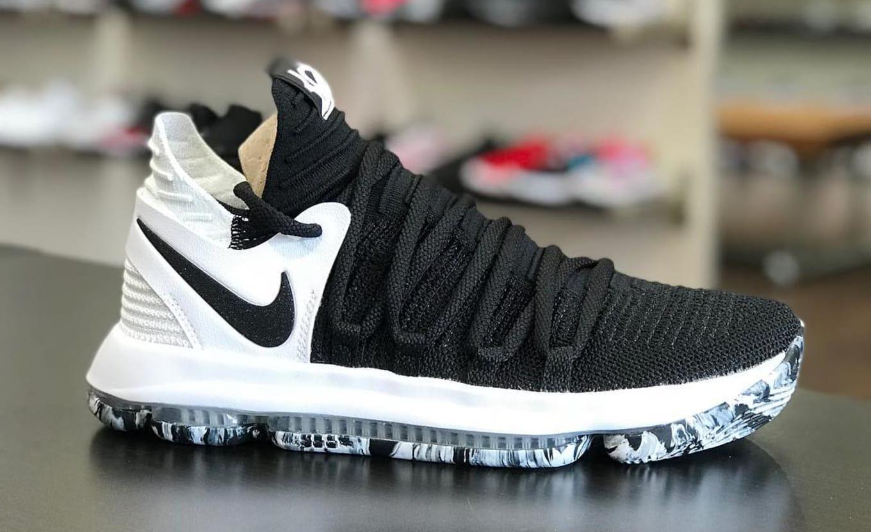 release date: f205d c9433 Nike KD 10 Black Black-White