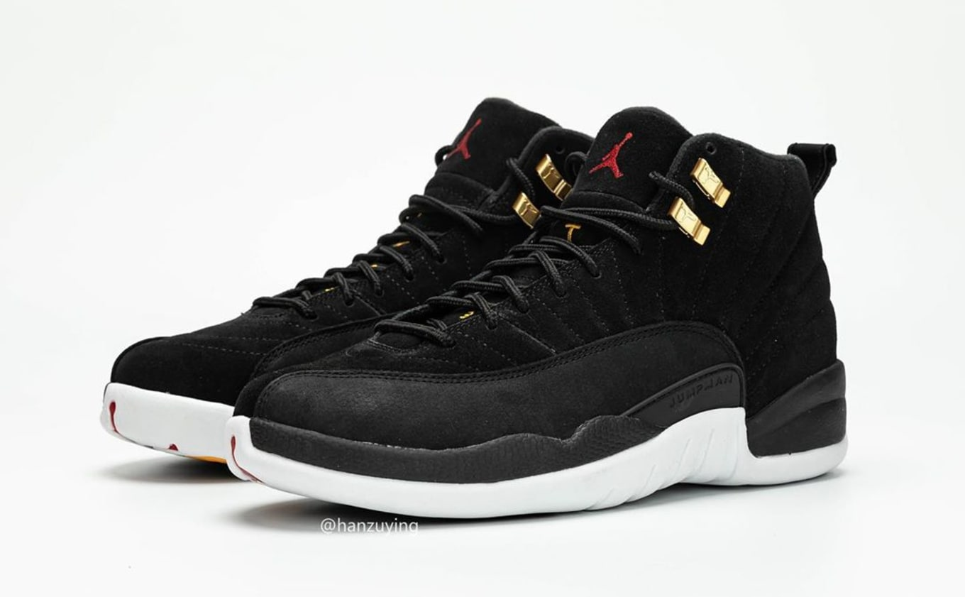 new styles d9f42 250b1 Air Jordan 12 Retro 'Black/White/Taxi/Black' 130690-017 ...