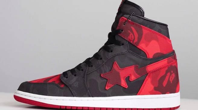 830f232d1ebd Bape Meets the Air Jordan 1 on These Custom Sneakers