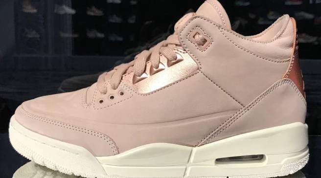 49c85f53327c  Rose Gold  Air Jordan 3 for Girls Arrives This Spring