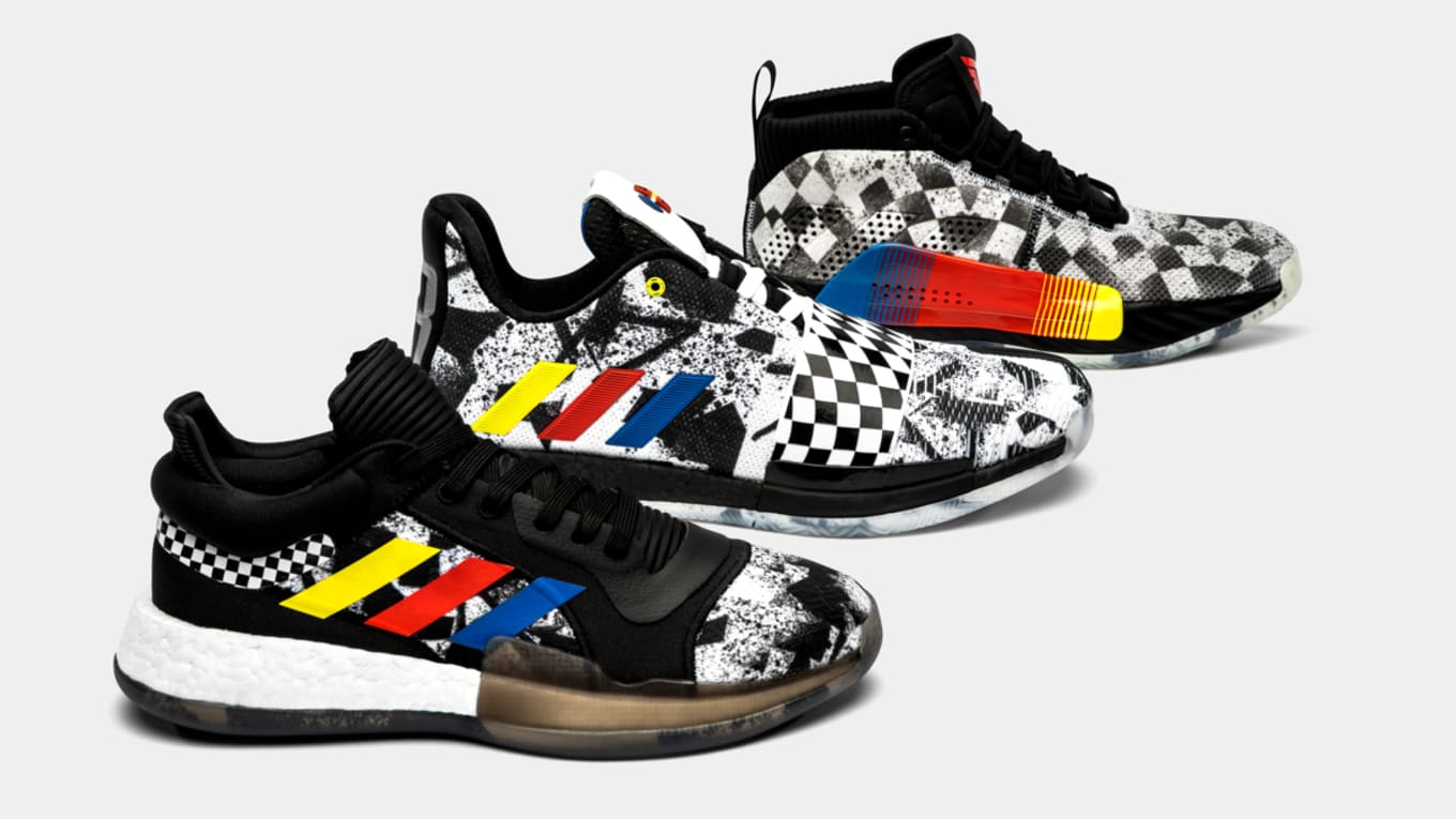 newest 54e8a 7dc6a Racing Inspires Adidas 2019 All-Star Collection