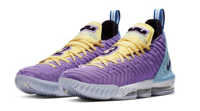6d3ea41411e9 The LeBron 16 Gets Dressed in Lakers Colors
