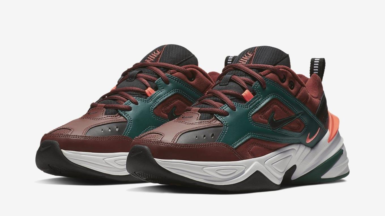 Nike M2K Tekno  Pueblo Brown Rainforest Bright Mango Black  Release ... 59c1a1de8