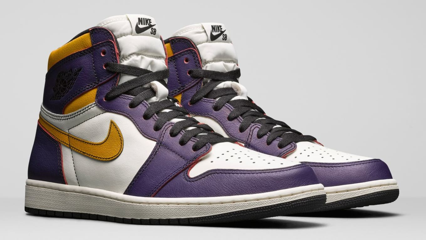 6cb635d2886 Nike SB x Air Jordan 1 'Lakers' Release Date | Sole Collector