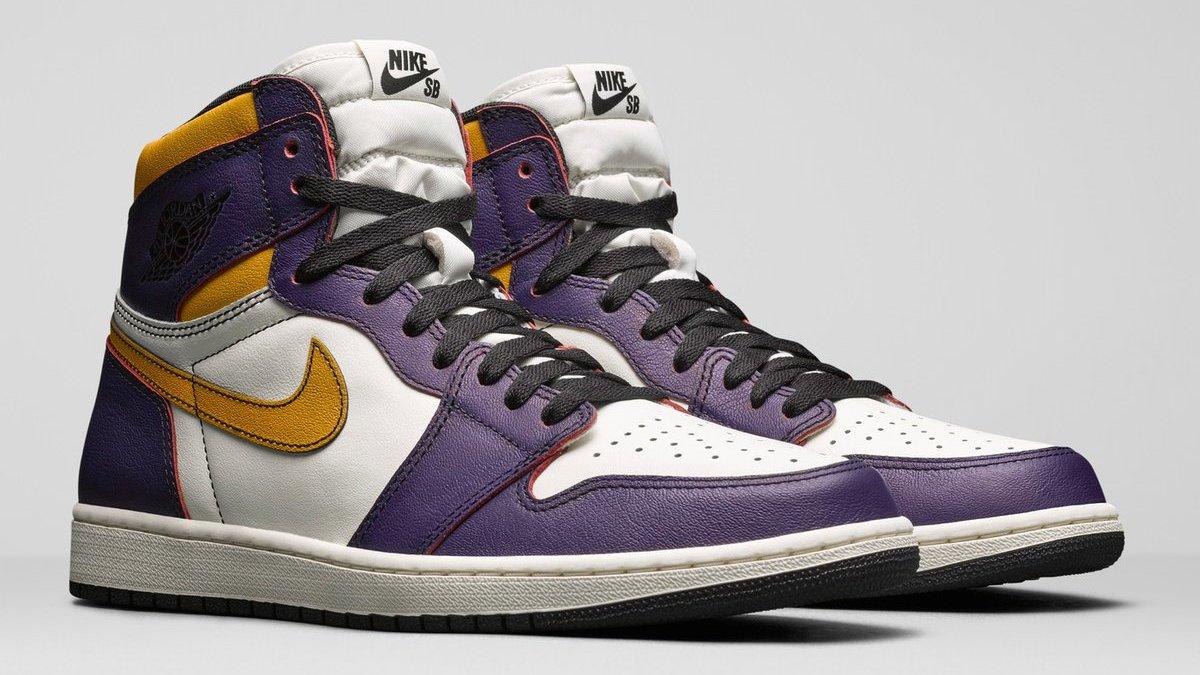 6cb635d2886 Nike SB x Air Jordan 1 'Lakers' Release Date | Sole Collector