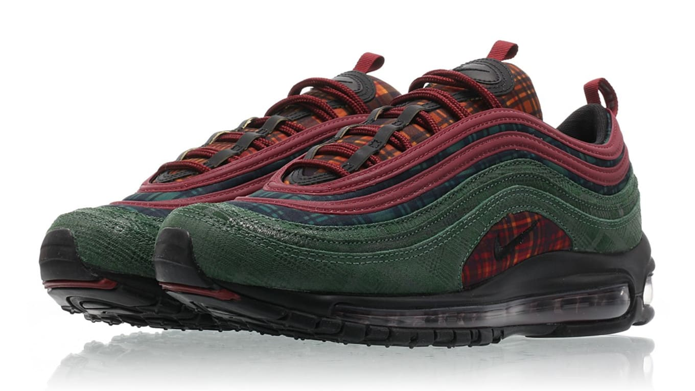 ac3929eb66 Nike Air Max 97 'Team Red/Midnight Spruce' AT6145-600 Release Date ...