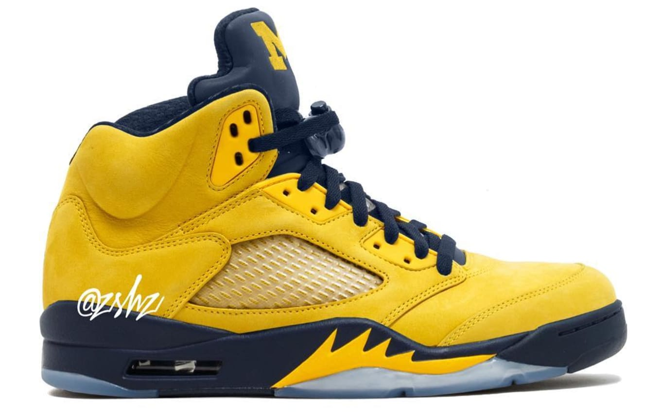 b963eef591c407 Air Jordan 5 Retro SP  Michigan  2019 Release Date CQ9541-704