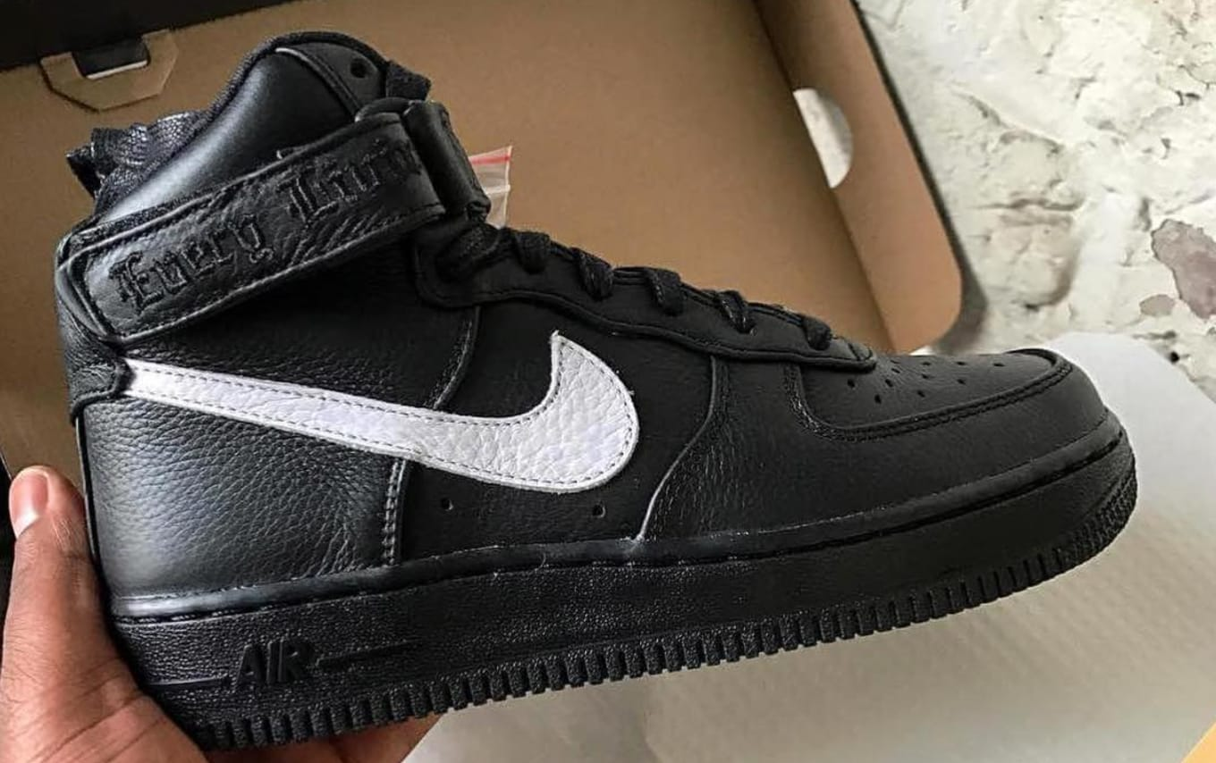 Vlone x Nike Air Force 1 High Black White | Sole Collector