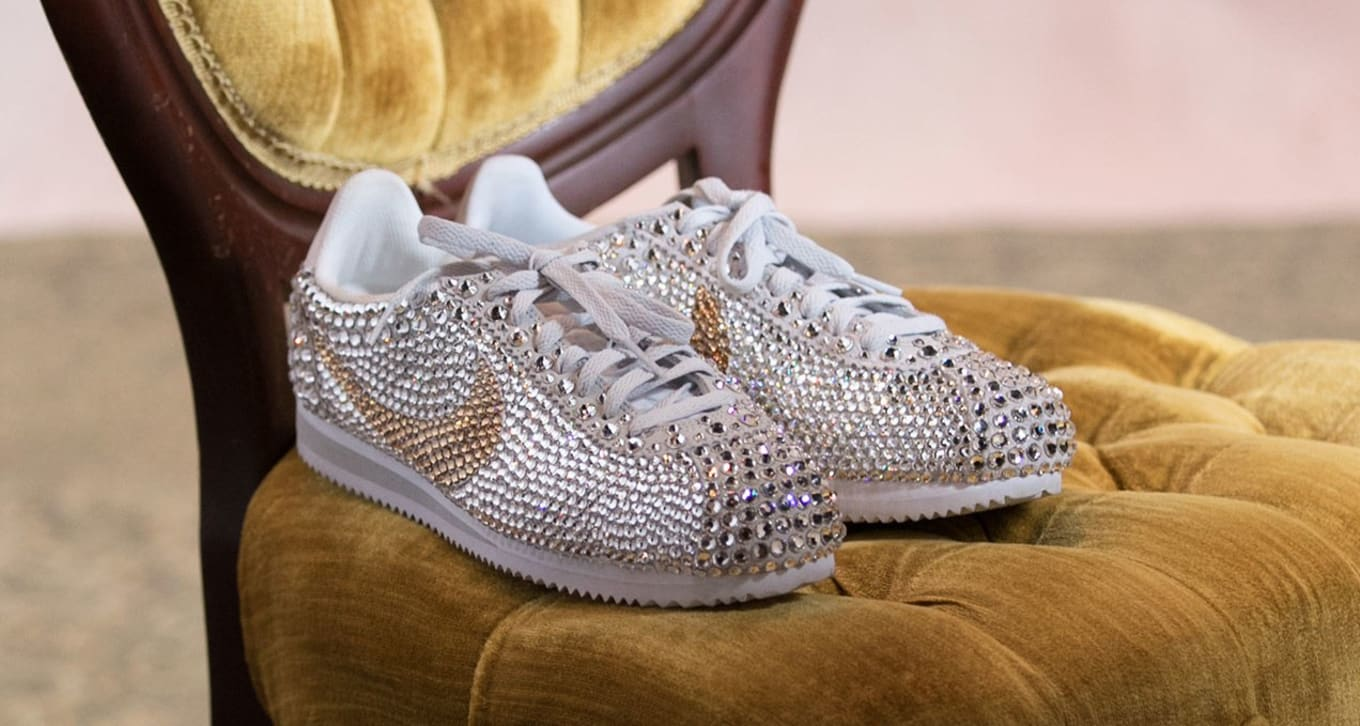 38e646f6283b Serena Williams Wore Crystal-Covered Nikes to Her Wedding Reception