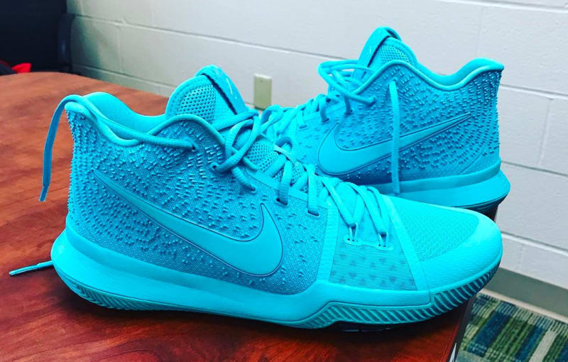 fd34f7aa90f Kyrie Irving unveils Tiffany-inspired Nike Kyrie 3 Sole Collector ...