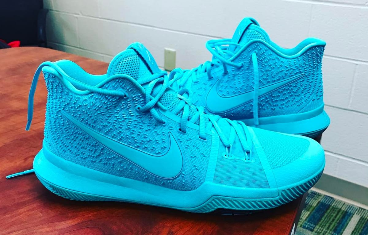 Kyrie Irving Unveils Tiffany Inspired Nike Kyrie 3 Sole