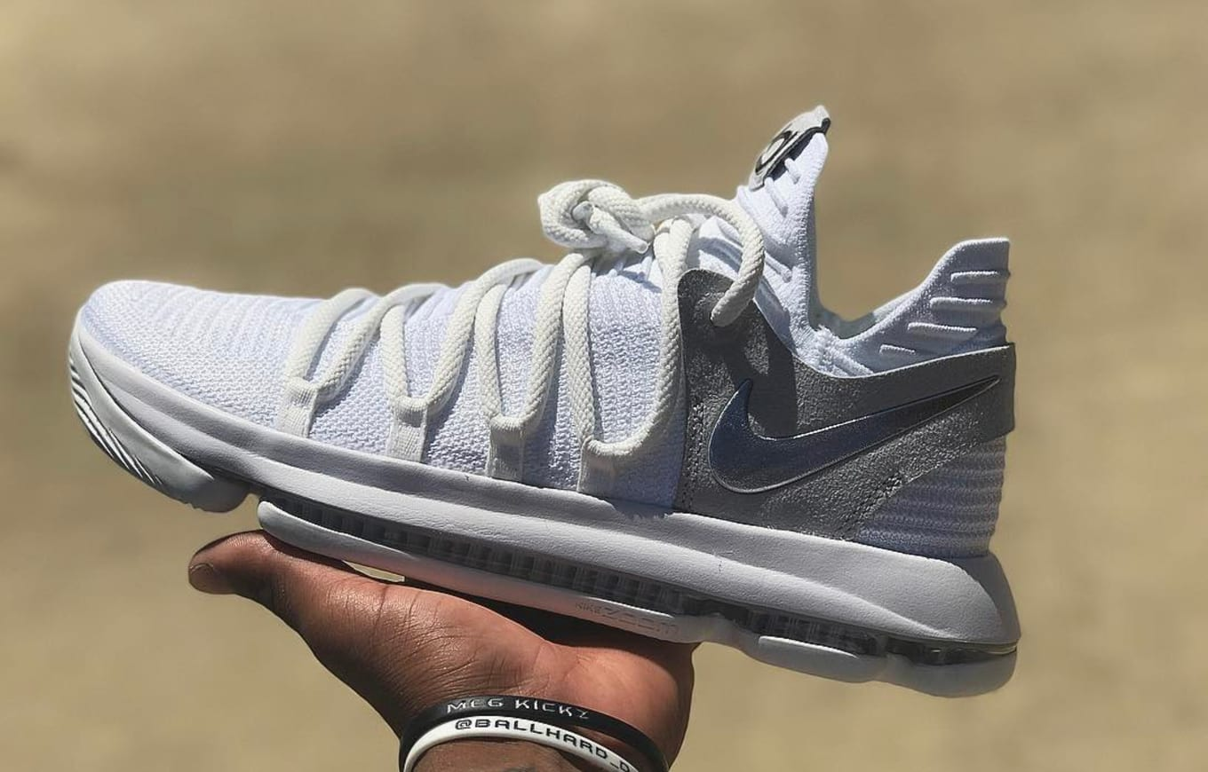 sale retailer 96d0d 15368 Nike KD 10 White Chrome Release Date 897815-100   Sole Collector