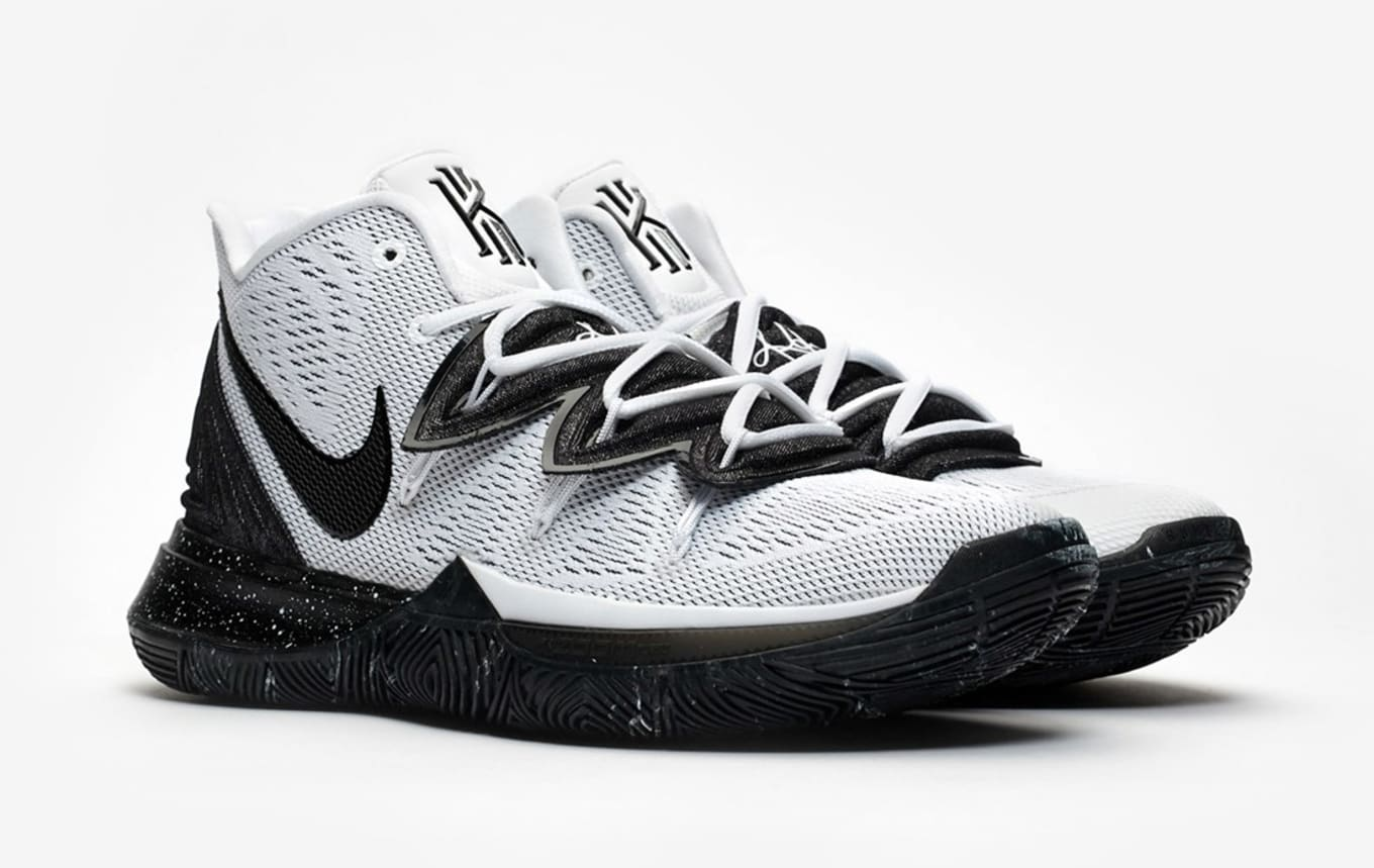 brand new 14217 67beb Nike Kyrie 5  White Black  AO2918-100 Release Date   Sole Collector