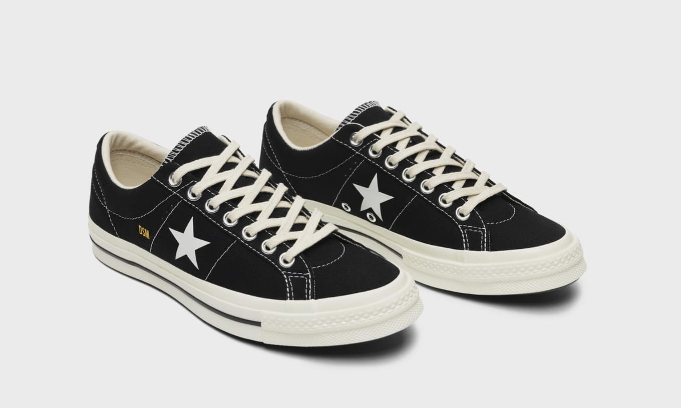 68f2b5fa4e678 Dover Street Market x Converse One Star  Black  and  White  Release ...