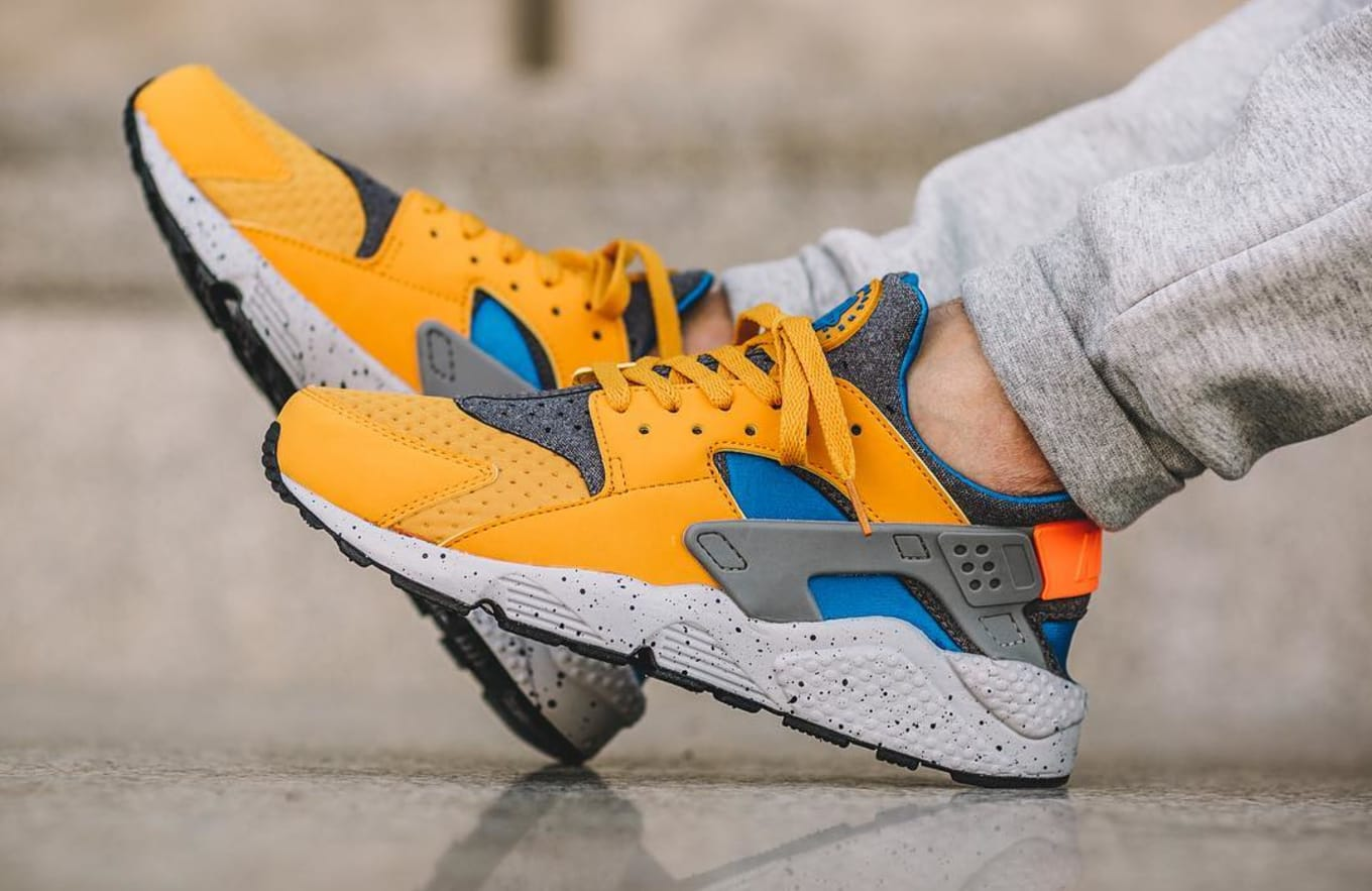 d3e21d4dcdd98 These Huaraches Have ACG Vibes. Vivid shades on this special edition Nike  Sportswear pack.