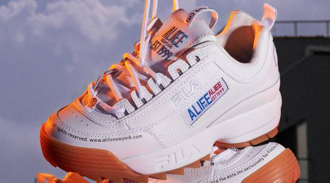 0e33aeedc403 Alife Gives Fila s Dad Shoe a Unisex Makeover. By Riley Jones