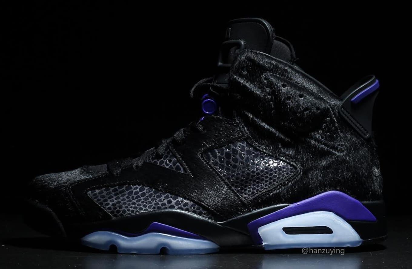 low priced 1b482 89f49 Air Jordan 6 Retro PRM 2019 'Cow Fur/Concord' Release Date ...