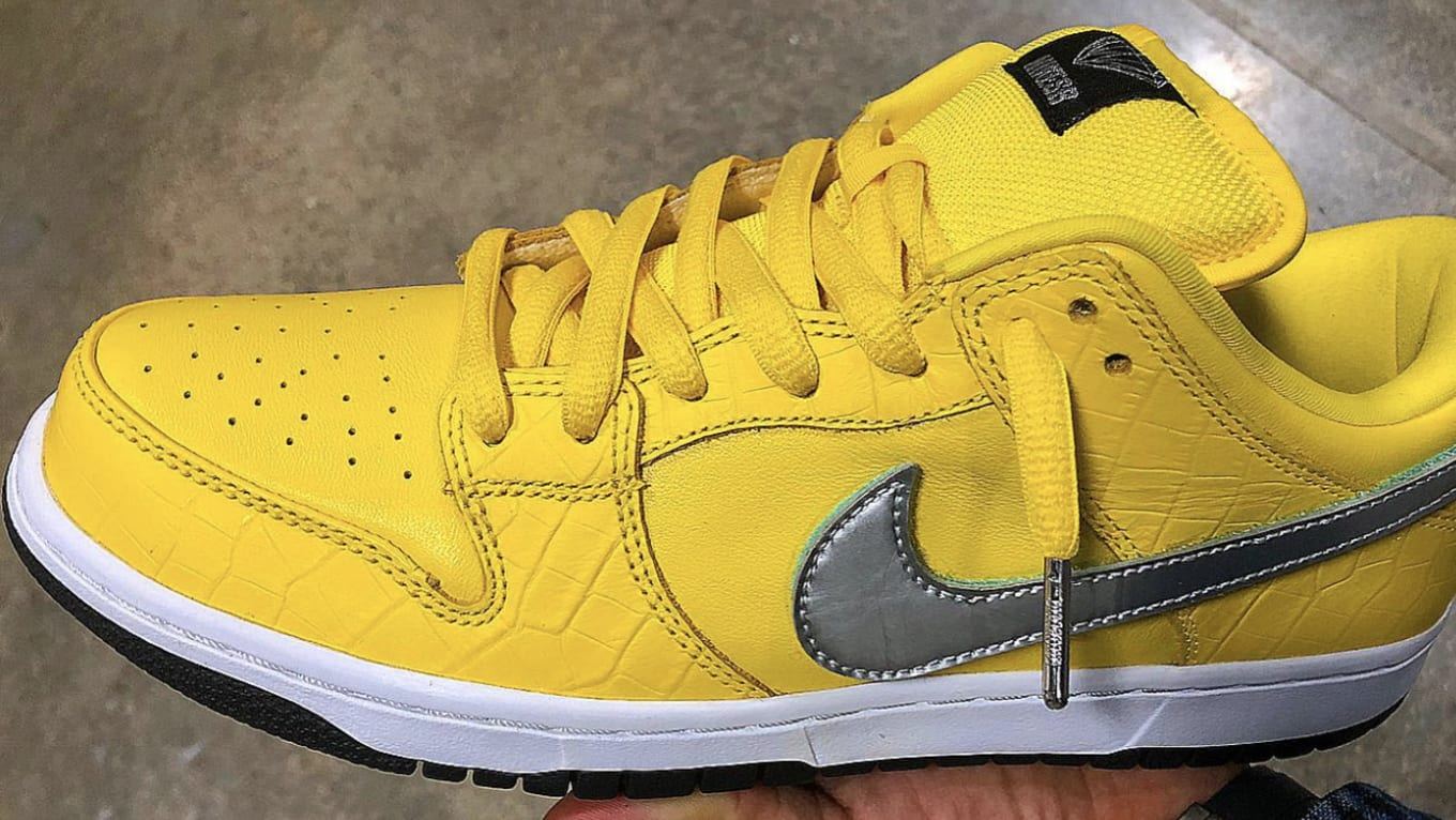 promo code b2a5c 5c1c7 Diamond Supply Co. x Nike SB Dunk Low Yellow Release Date  S