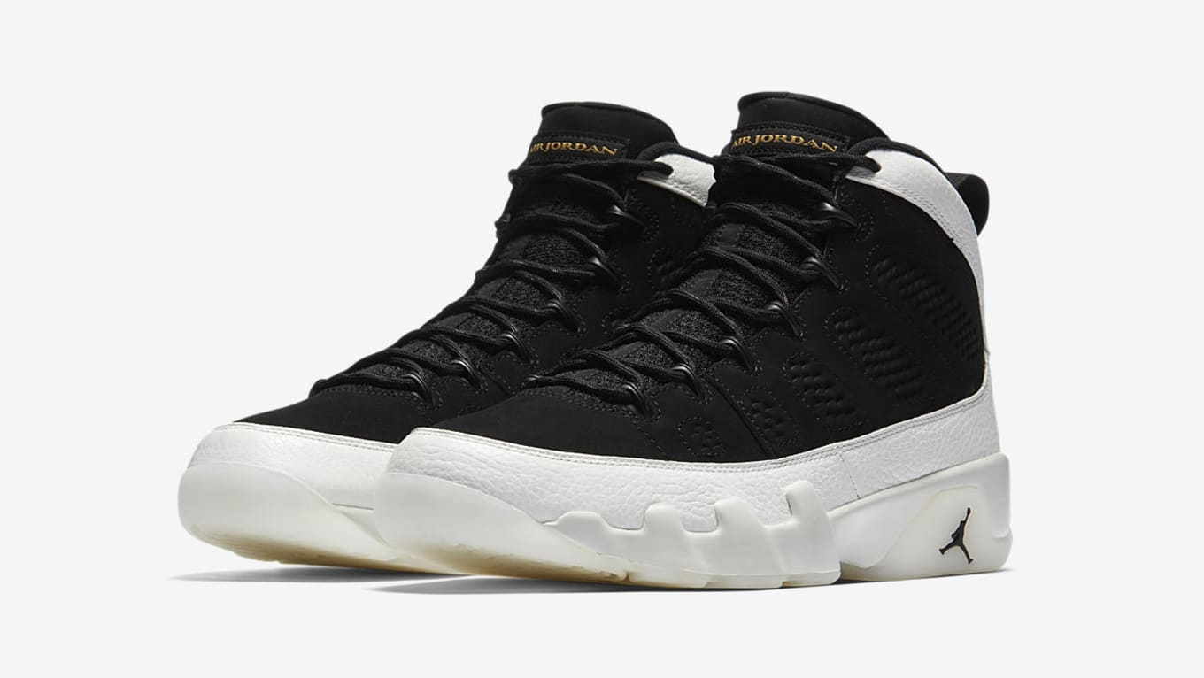 sneakers for cheap 8a123 ec9c3 Air Jordan 9 IX Black Summit White Gold 2018 Release Date ...
