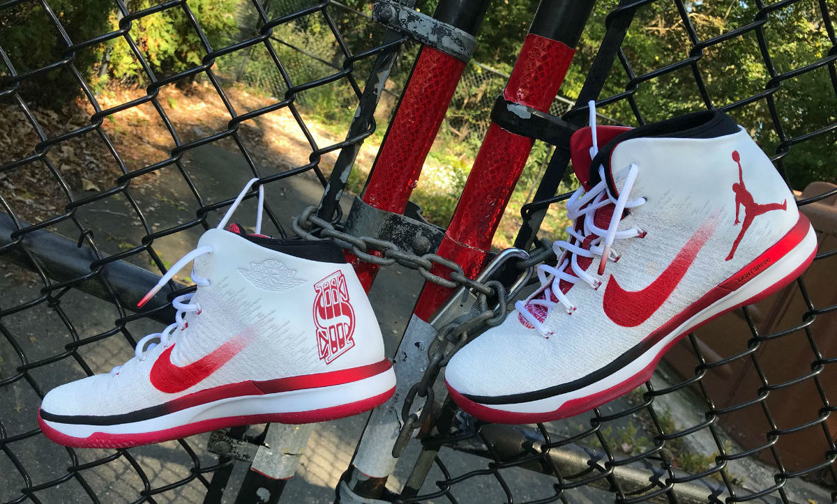 da17febcbffad Shane McMahon Air Jordan 31 Red Wings Custom Sneakers for WWE Hell in a Cell  | Sole Collector
