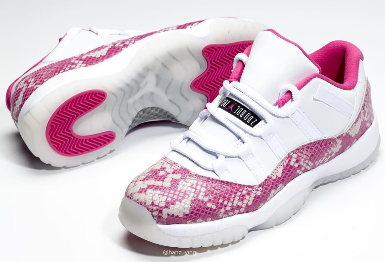 WMNS Air Jordan 11 Low  Pink Snakeskin  Release Date  076bd2e63