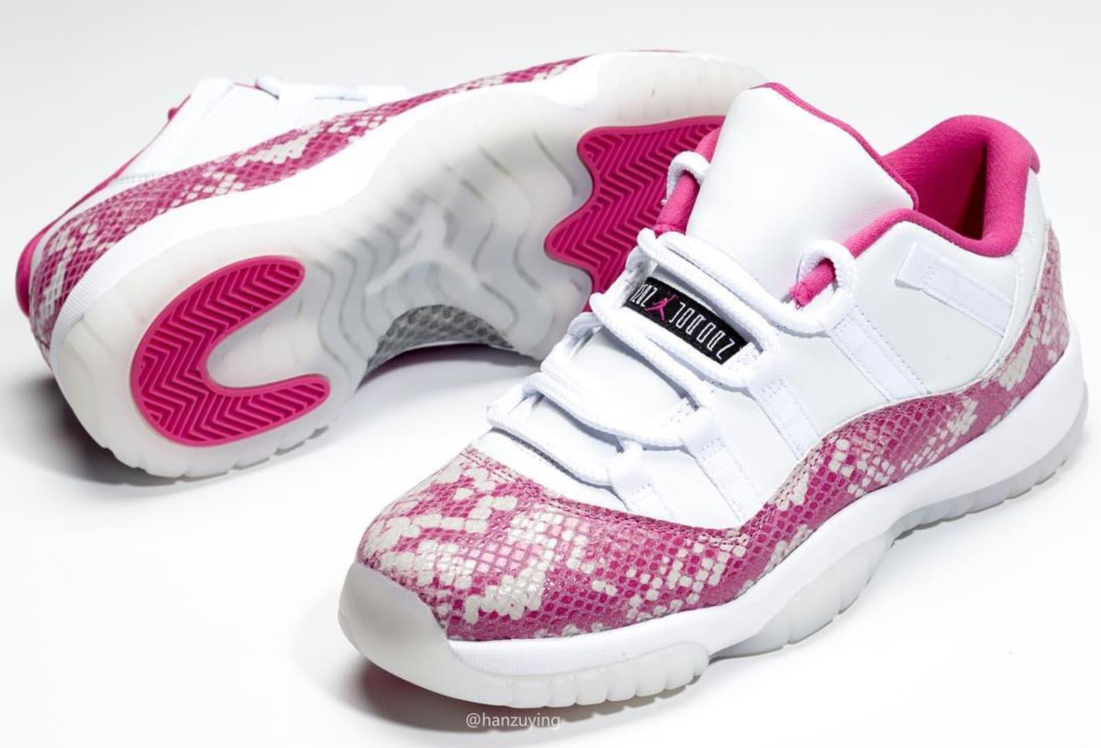 6556aa01876ea1 WMNS Air Jordan 11 Low  Pink Snakeskin  Release Date