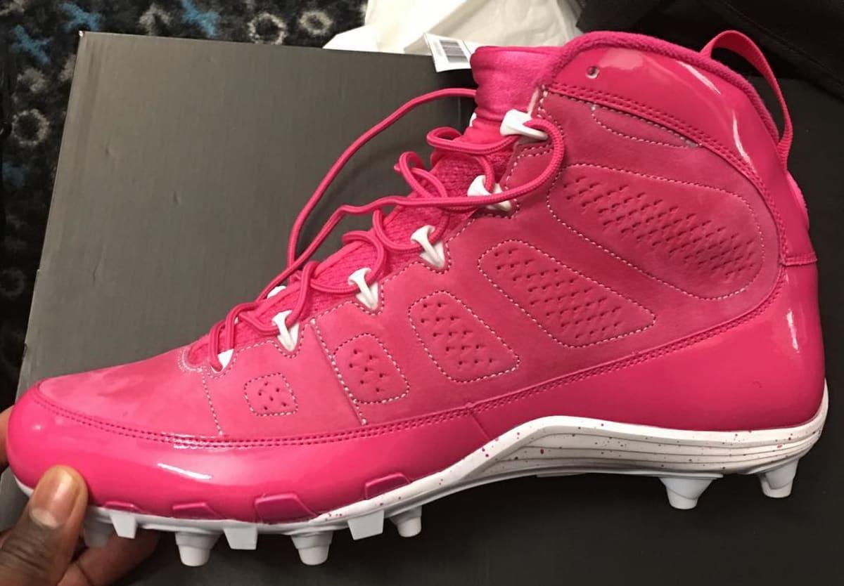 Air Jordan 9 Pink Breast Cancer Awareness Cleats | Sole ...