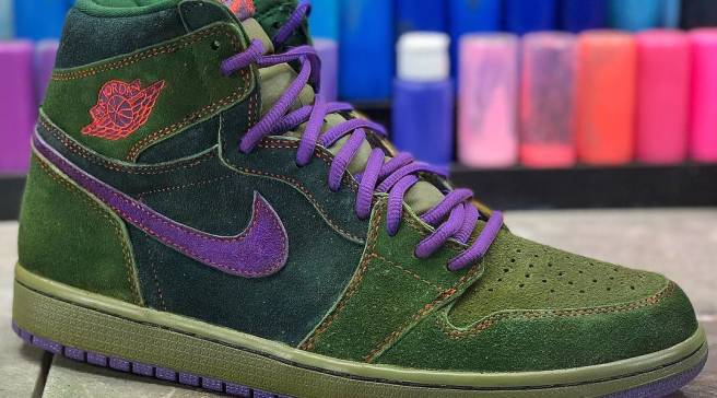 53badbd7465b4a A Customizer Made  Skunk  Air Jordan 1s for 4 20