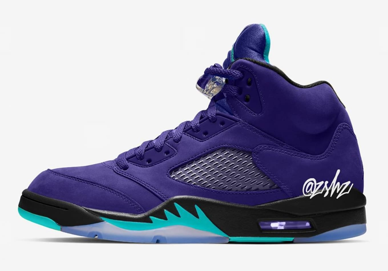349fae2dd16867 Air Jordan 5  Grape Ice  Grape Ice Black-Clear-New Emerald 136027 ...