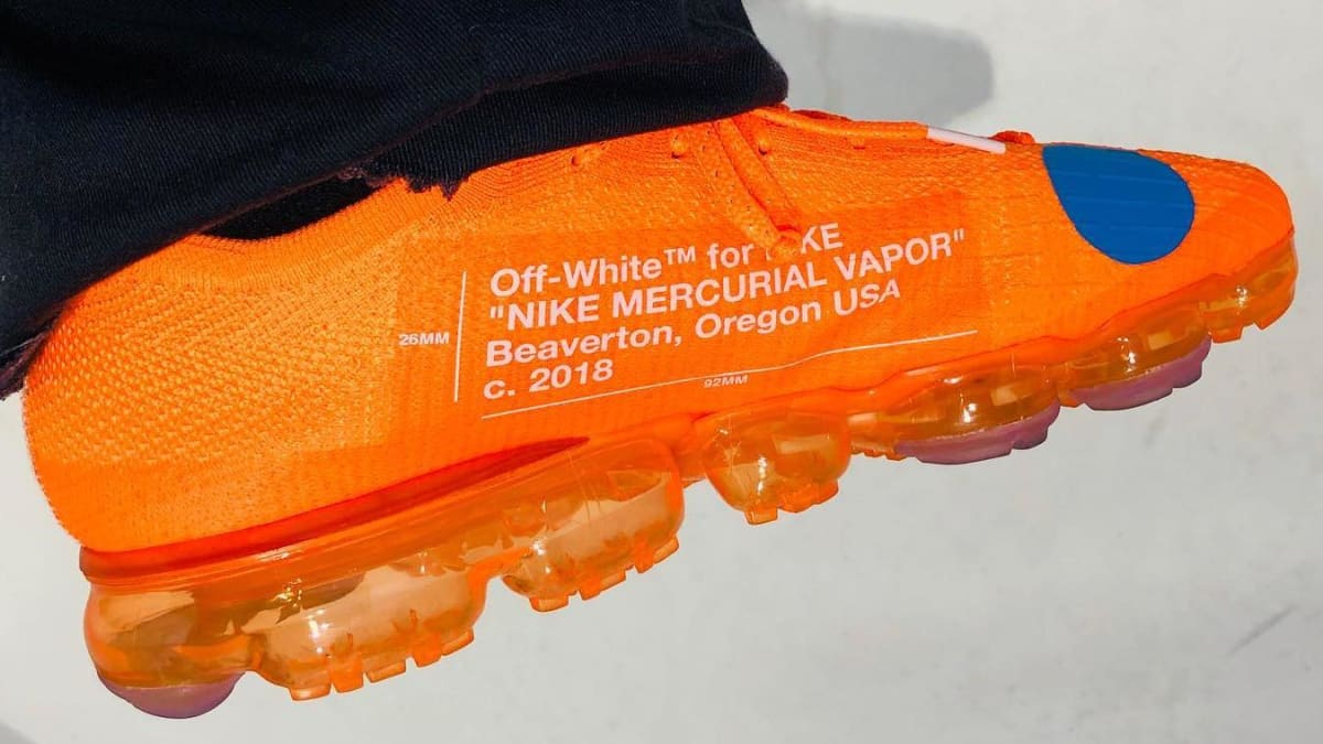 Off White Teases The Nike Mercurial Vapormax Sole Collector
