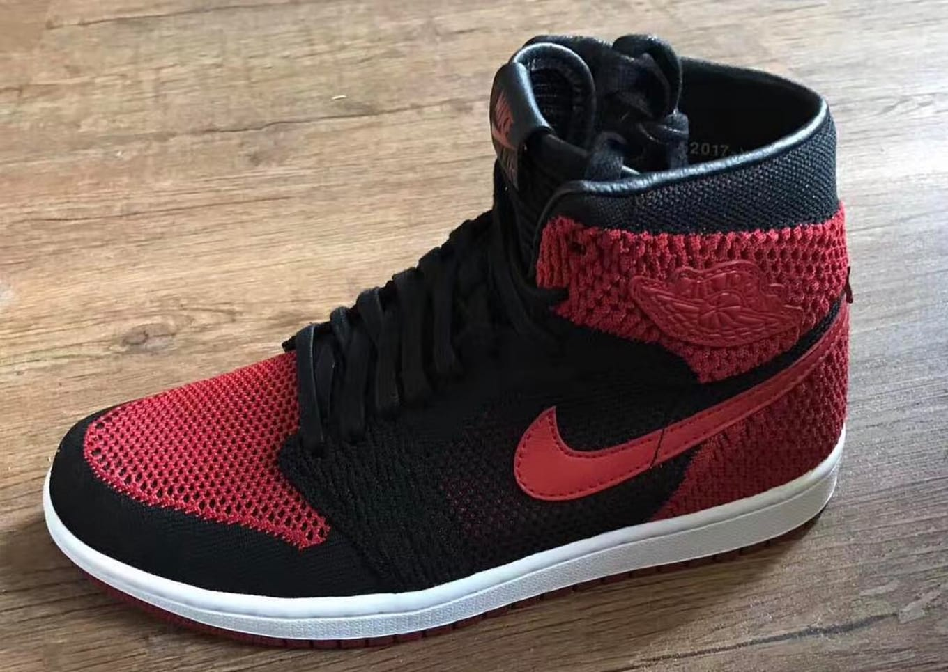 Are Flyknit Air Jordan 1s Releasing  First look at the  Banned  colorway. 5684bc301