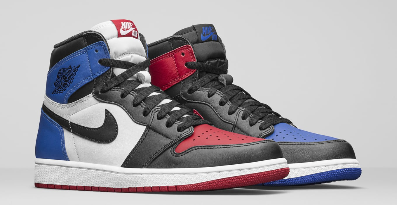 blue and red jordan 1
