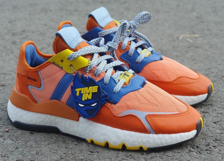 adidas nite jogger orange