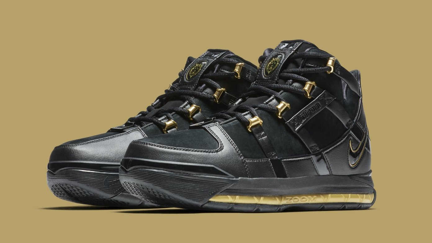 finest selection 1b55a 8082d Black and Gold LeBron 3 Retros Get a Release Date