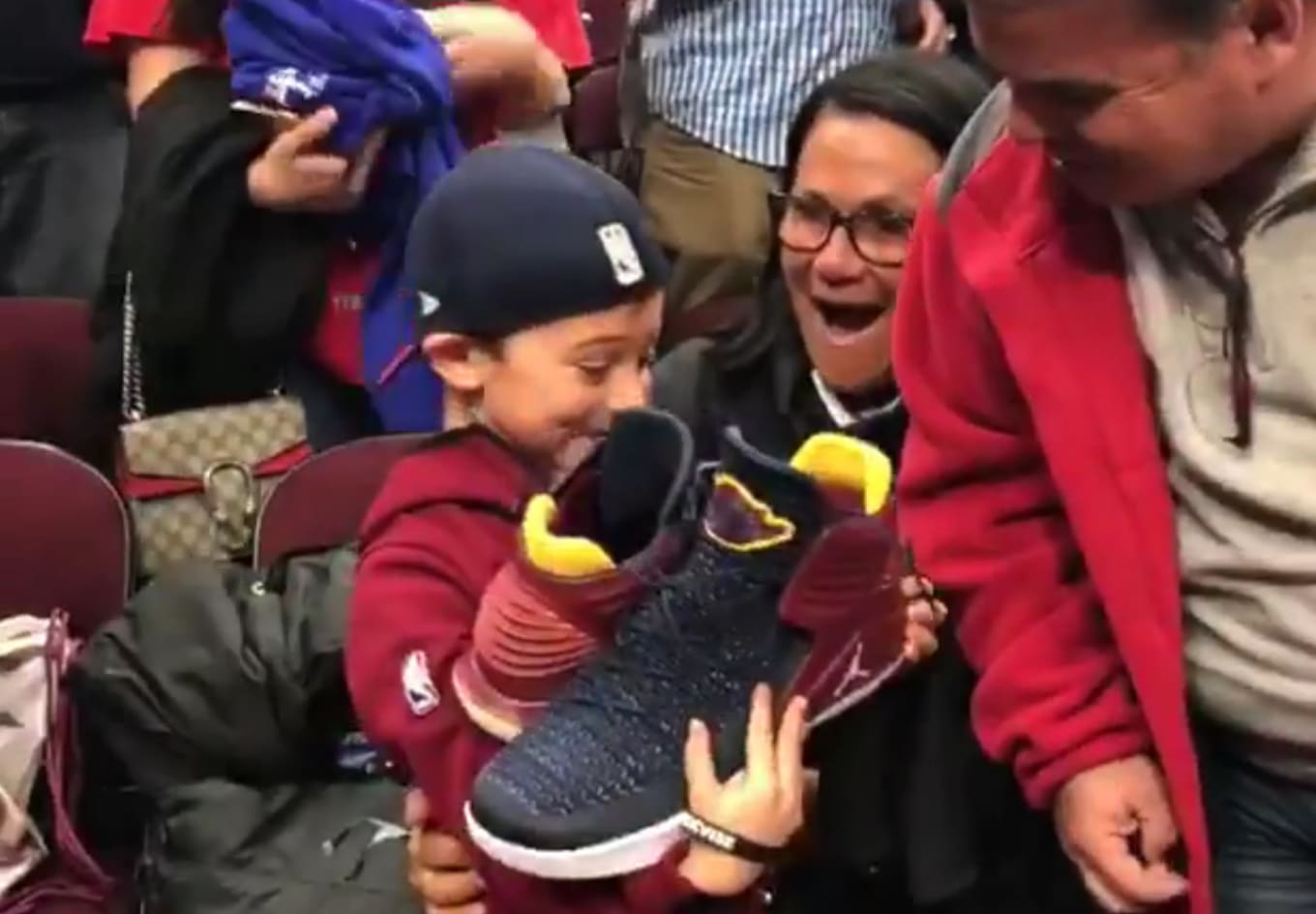 f24b7358b2a2 Cavs  Jeff Green Gives Air Jordan PEs to a Young Fan