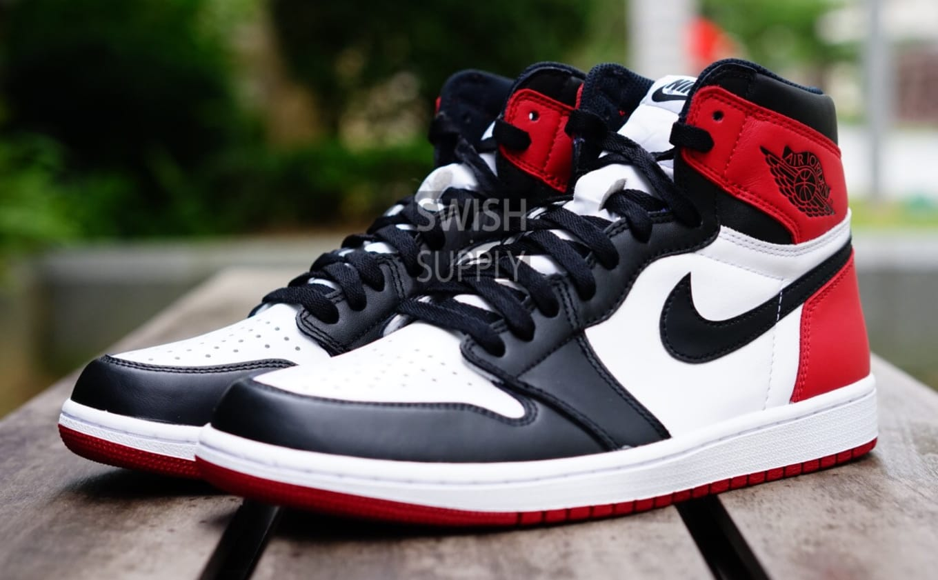 sale retailer 207d1 92ff3 Air Jordan 1 Black Toe 2016 555088-125 | Sole Collector