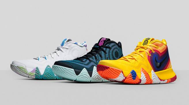 bde9837a3abe These Multicolor Kyrie 4s Will Drop as a  Decades Pack