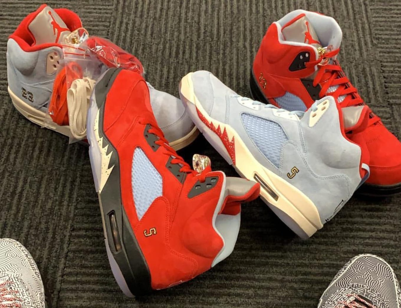 finest selection 5c5ef 9e8e4 Trophy Room Officially Unveiled Its Air Jordan 5 Collab.