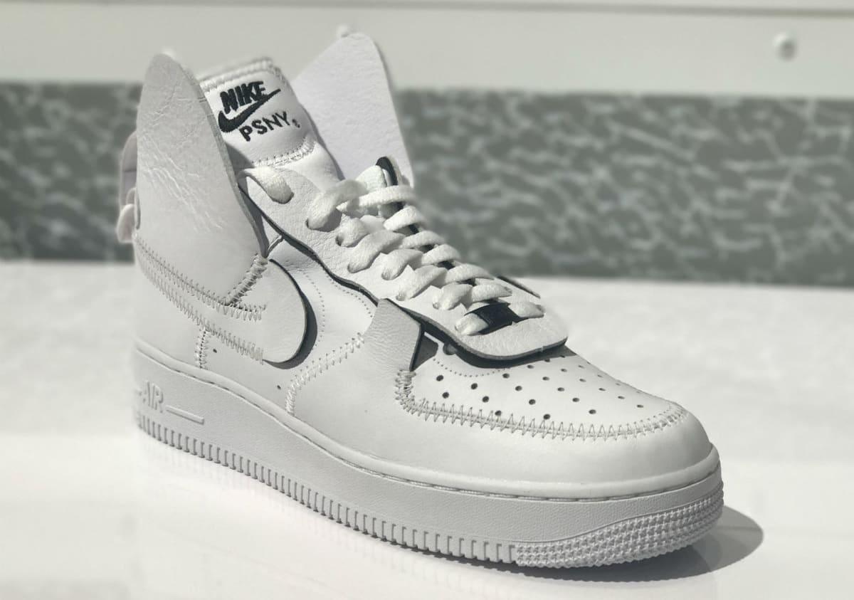 0e1fb654c67447 PSNY x Nike Air Force 1 High Black White Wolf Grey Release Date - Premier  Kicks
