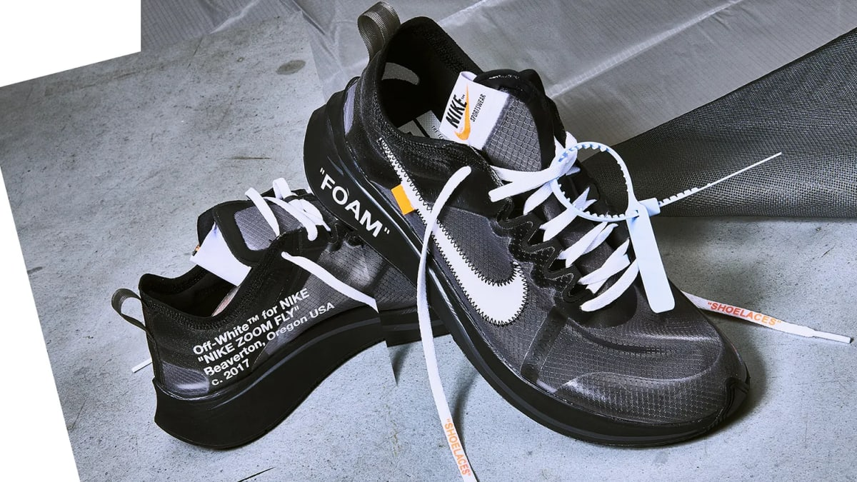 new concept 1ef2b 56b8e Off-White x Nike Zoom Fly SP  Black   Tulip Pink  Release Date AJ4588-600  AJ4588-001 10 13 2018   Sole Collector