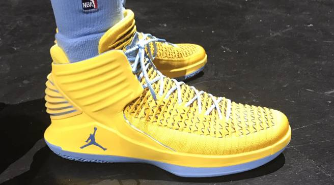 4fe73bba8116 Air Jordan 32 PEs Spotted at NBA Nike Uniform Launch