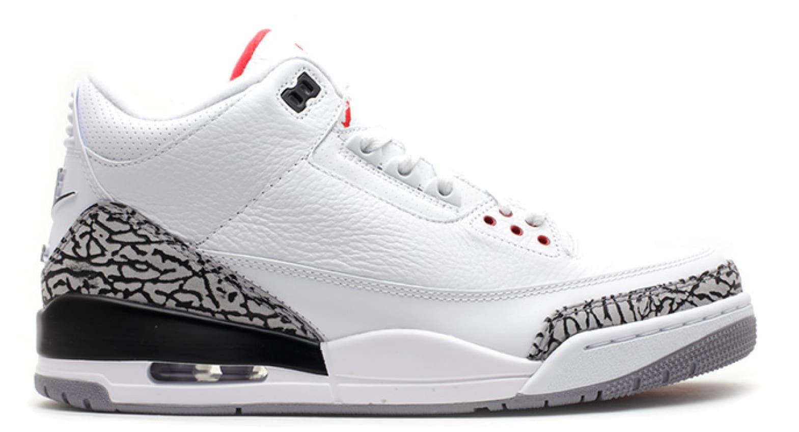 Nike Jordan 3 Standard White Red New Style