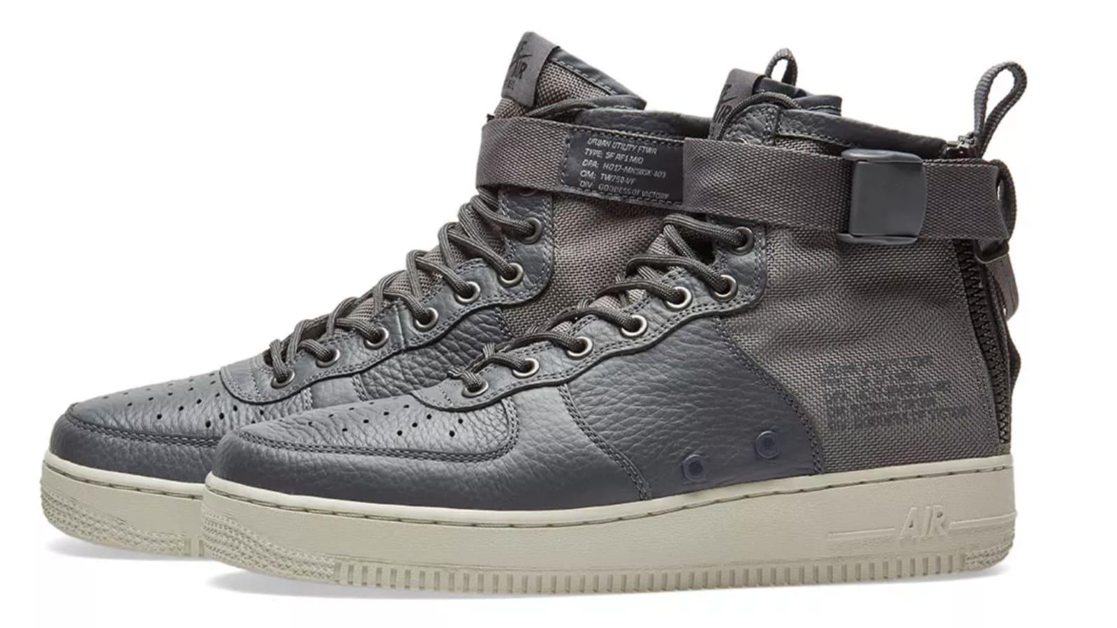 free shipping 8e77b 53a6b Nike SF Air Force 1 Mid  Dark Gray